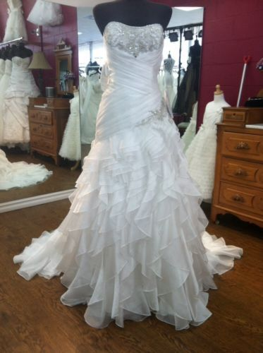 Trendy Alfred Angelo Disney Wedding Dress Jasmine Style Size eBay