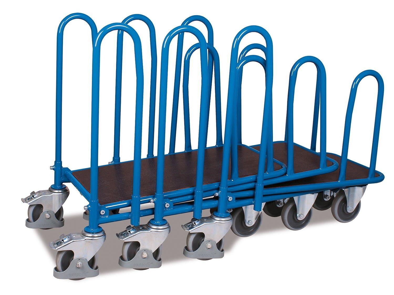 GTARDO.DE:  CC Wagen mit 4 Seitenbügel, Tragkraft 400 kg, Ladefläche 880 x 447 mm, Maße 950 x 645 x 955 mm, Rad 160 mm 209,00 €