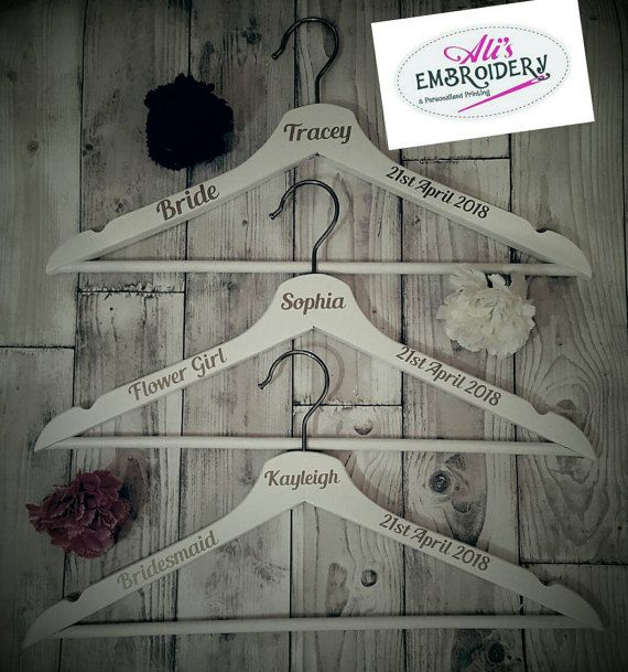 Check out this item in my Etsy shop https://www.etsy.com/uk/listing/508438431/personalised-wedding-hanger
