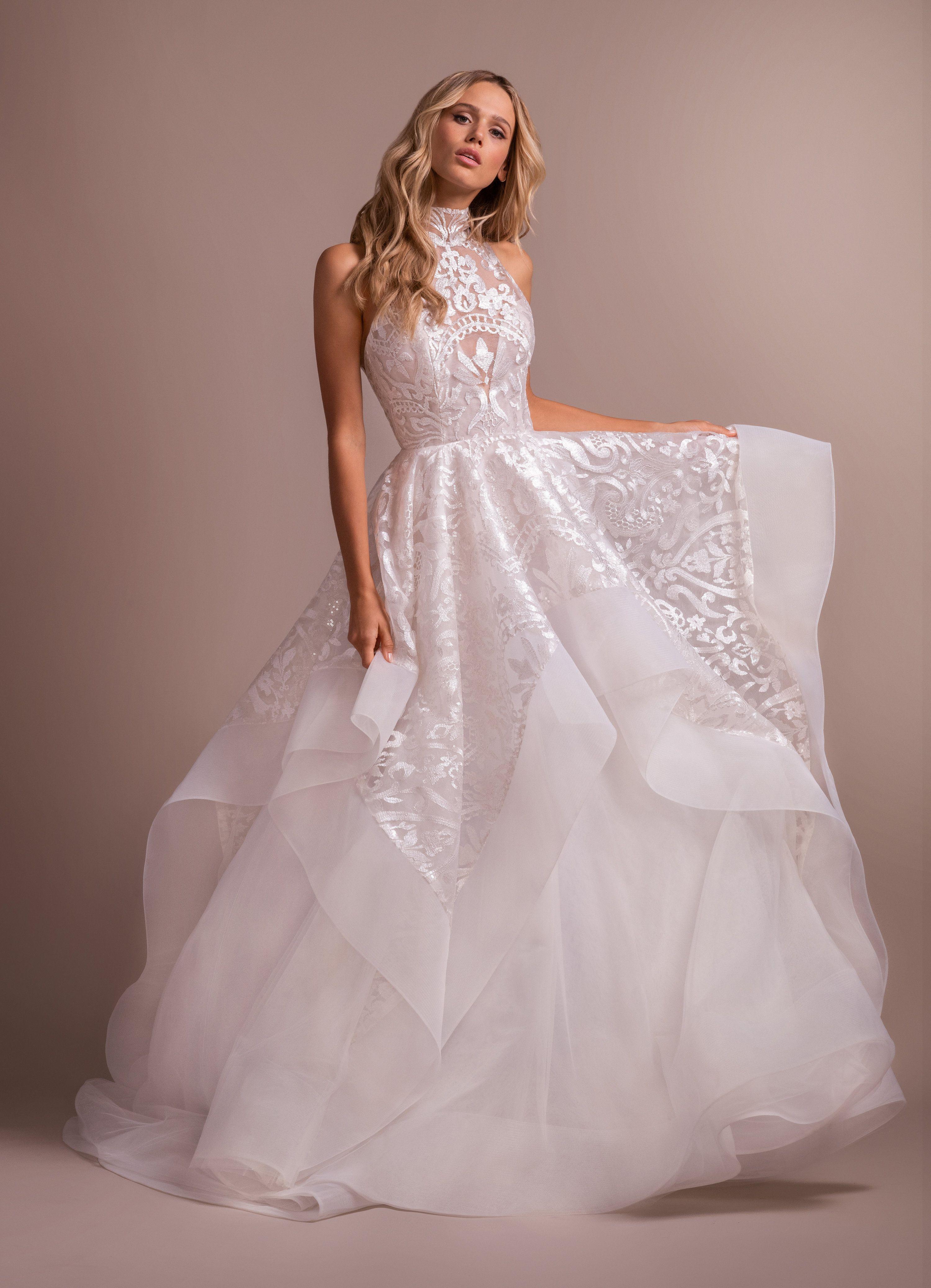 Hayley Paige Kylo Gown High Neck Wedding Dress Dallas Bridal Salon Wedding Dresses Kleinfeld High Neck Wedding Dress Ball Gowns Wedding