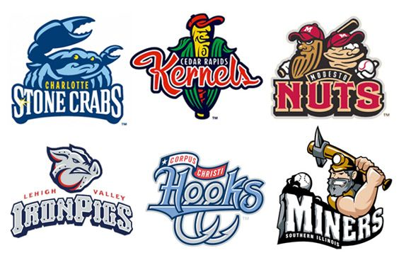Minor Leqgue Baseball Logos Sports Logo Design Baseball Teams Logo Sports Logo Inspiration