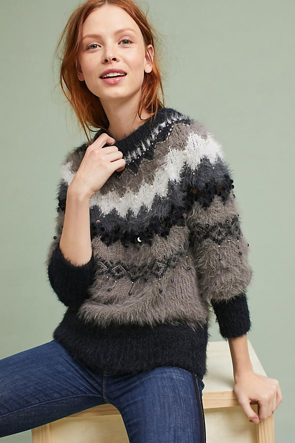 Fair Isle Bubble-Sleeve Pullover | Fair isles, Pullover and ...