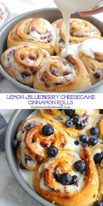 Blueberry Cheesecake Cinnamon Rolls