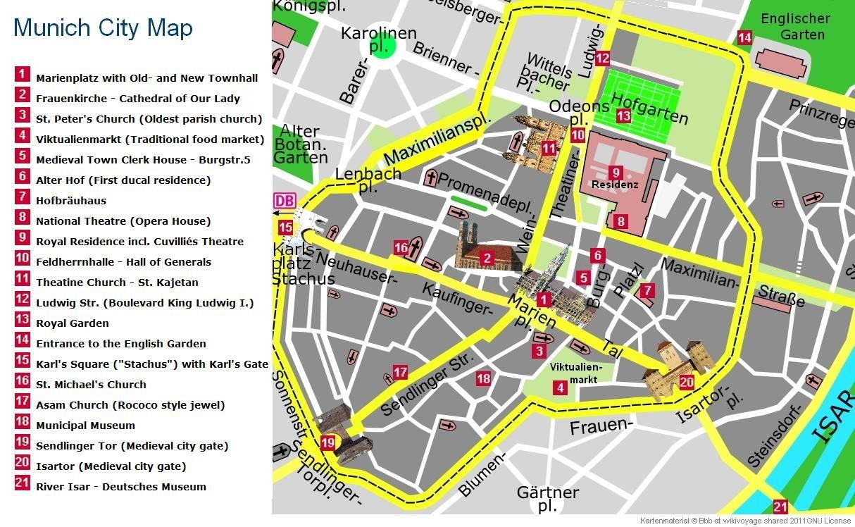 Image Result For Munich Christmas Market Map Frauenkirche Hofgarten Englischer Garten