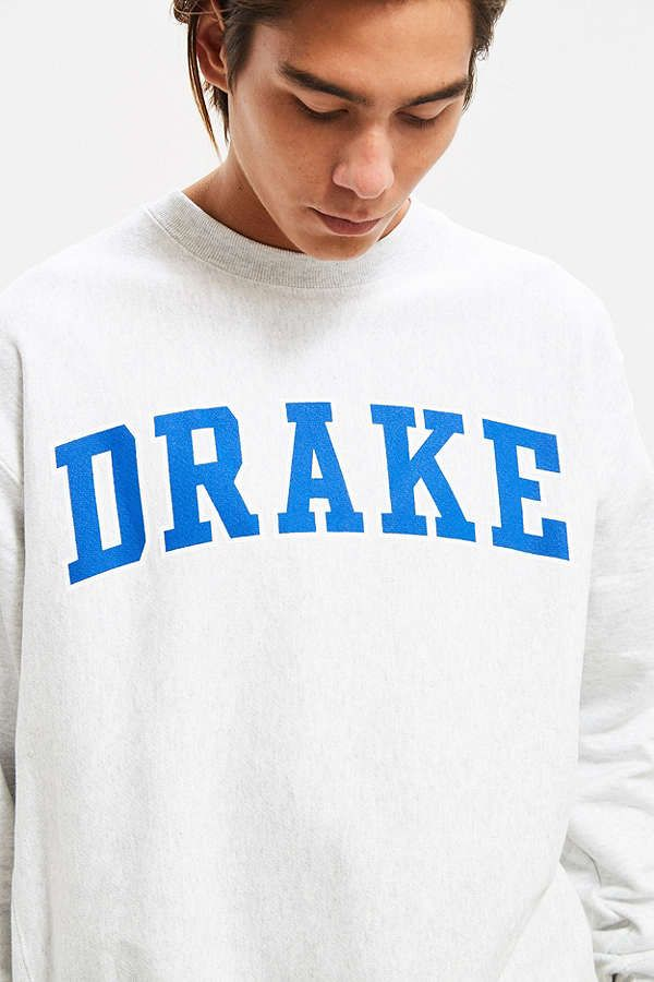 5f205ad5 Slide View: 2: Champion Drake University Reverse Weave Crew Neck Sweatshirt