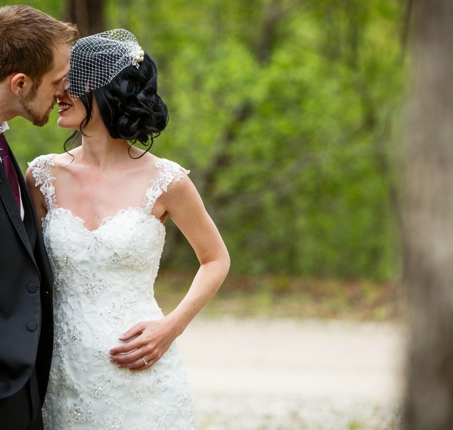 Wedding hairstyle for medium length hair with a birdcage ...
