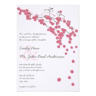 Vintage Cherry Blossom Japanese Wedding Invite Wedding Invitations Wedding Invitation Sets Vintage Wedding Invitations
