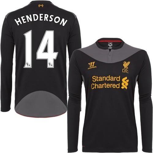 Liverpool #14 Jordan Henderson Long Sleeves Away Soccer Club Jersey! Only $22.50USD