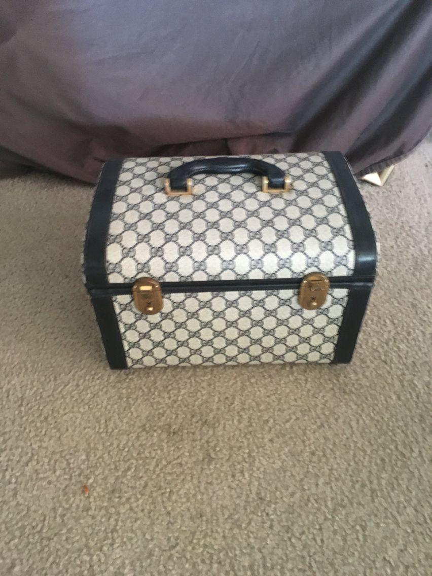 7ab5c379e3184 Vintage Gucci circa 1970s train case | Rare Vintage Gucci Handbags ...