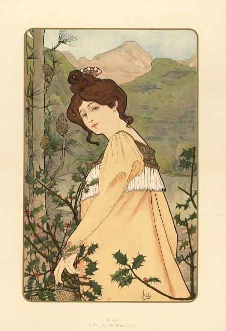 Art Nouveau - Panneau décoratif - Jane Atché