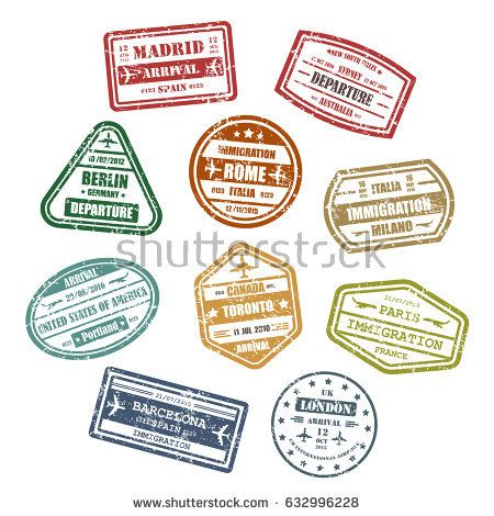 Visa stamps or passport signs for travel to madrid or barcelona in - invitation letter for us visa cuba