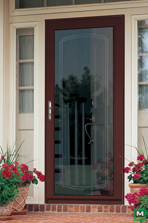 Accent Your Entryway With A Larson Lakeview Fullview Storm And Screen Door Available In An Impres Glass Screen Door Storm Door Installation Glass Storm Doors