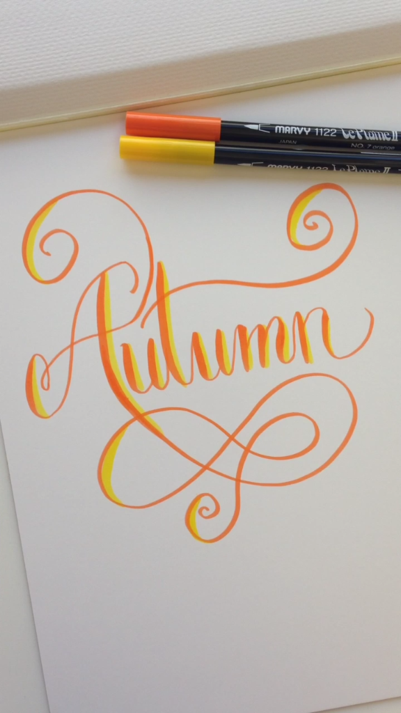 how to hand letter autumn quotes