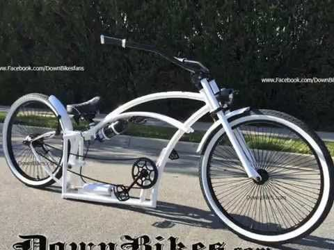 Stretch Beach Cruiser Bicycles Custom Made Air Ride Suspension Order Your Downbikes Beach Cruiser Bicycle Beach Cruiser Beach Cruiser Accessories