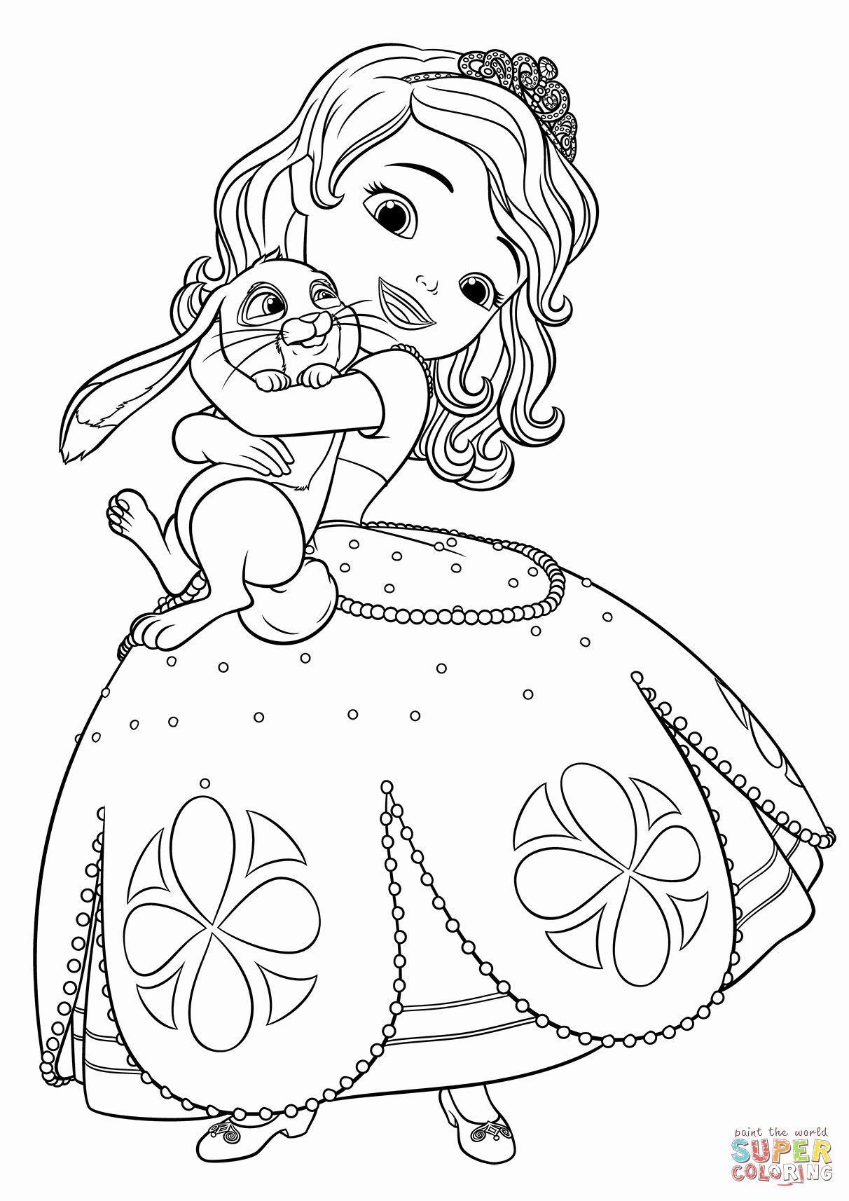 Sofia The First Coloring Unique Sofia And Clover Coloring Page Rapunzel Coloring Pages Disney Coloring Pages Ariel Coloring Pages