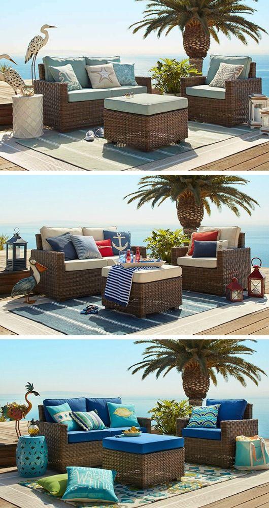 Outdoor Coastal Beach Decor For The Summer Outdoor Decor Patio