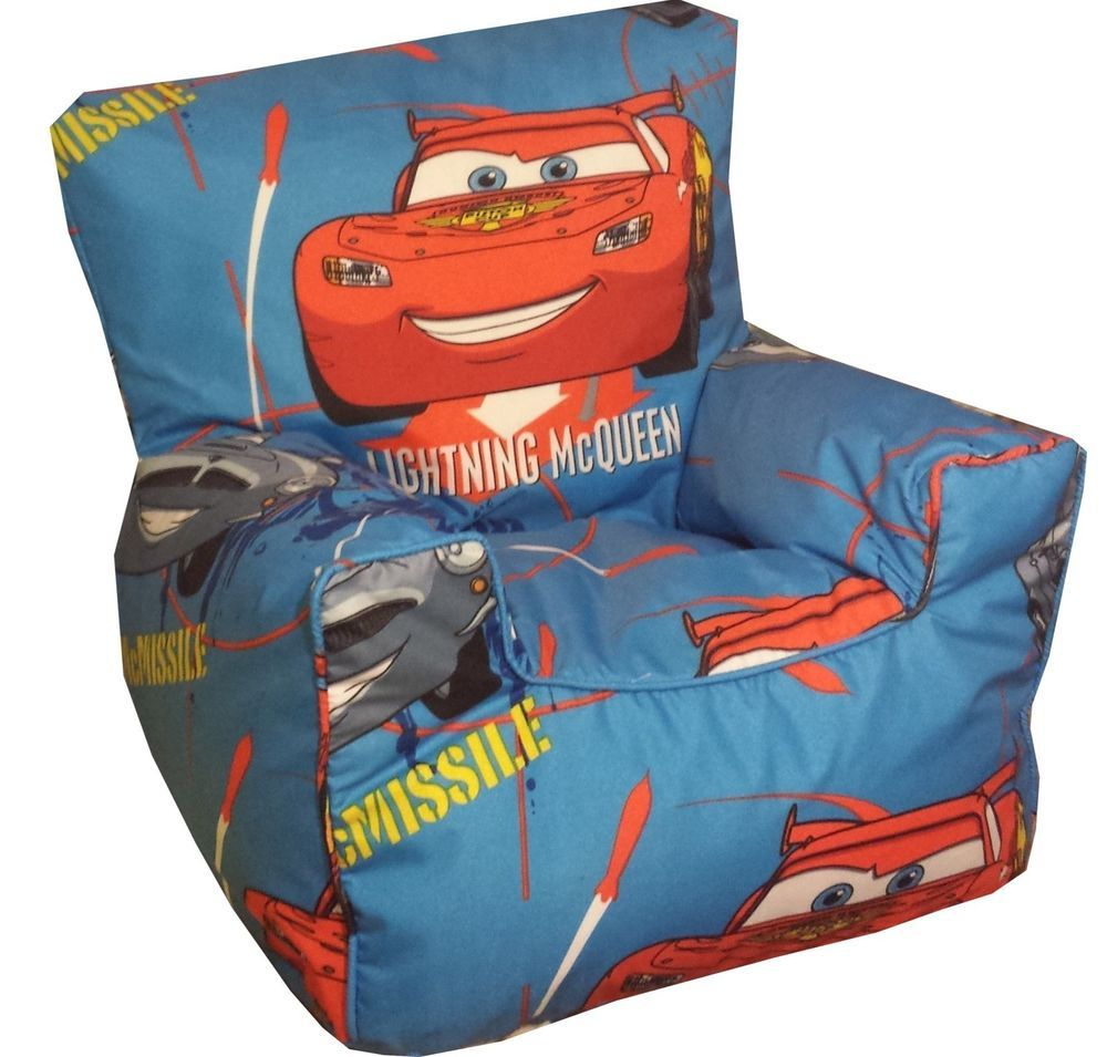 Disneys Cars Beanbags Childrens Character Bean Chairs Kids Beanbag Sofas In Home Furniture