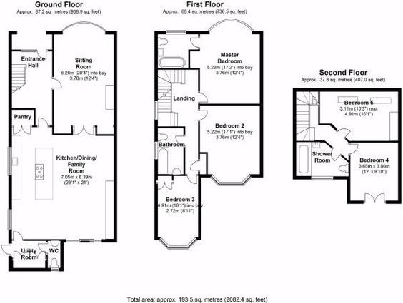 3 Bed House Floor Plan Rear Extension - Google Search | My Design