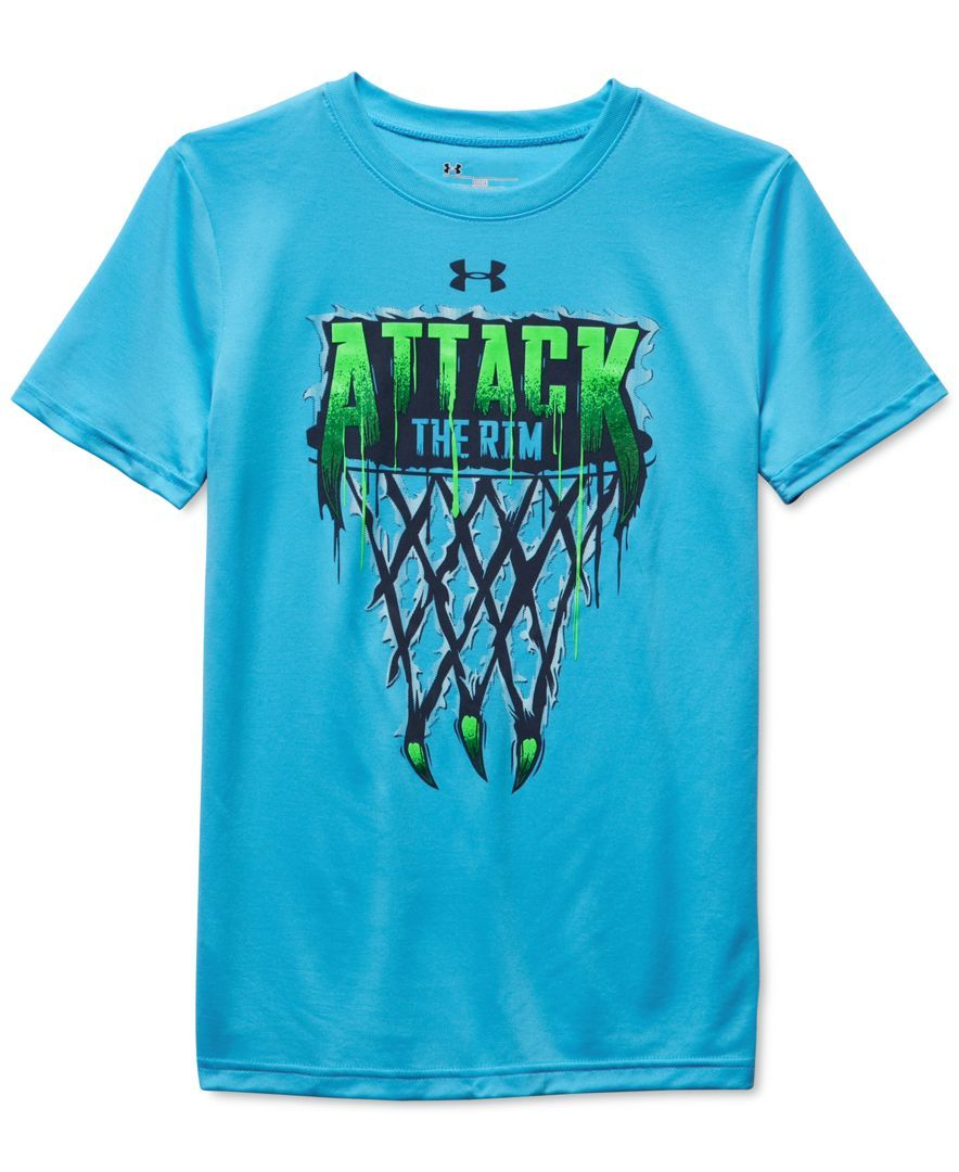 under armour shirts for boys. under armour boys\u0027 attack the rim t-shirt shirts for boys -