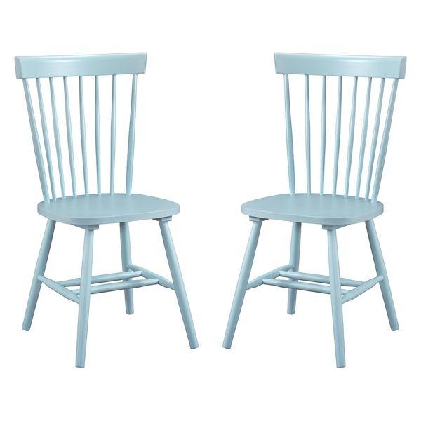 Dunner Danish Design Spindle Back Light Blue Dining Chairs (Set Of 2) $230