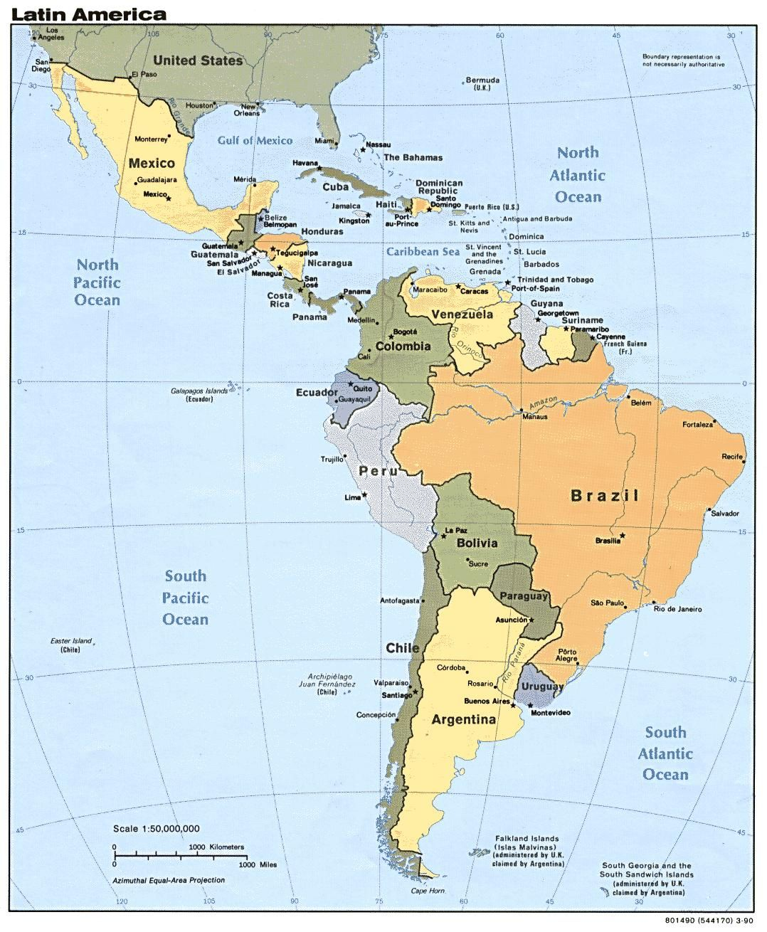 Map Of South America Countries And Capitals Map Of South America - Ecuador south america map