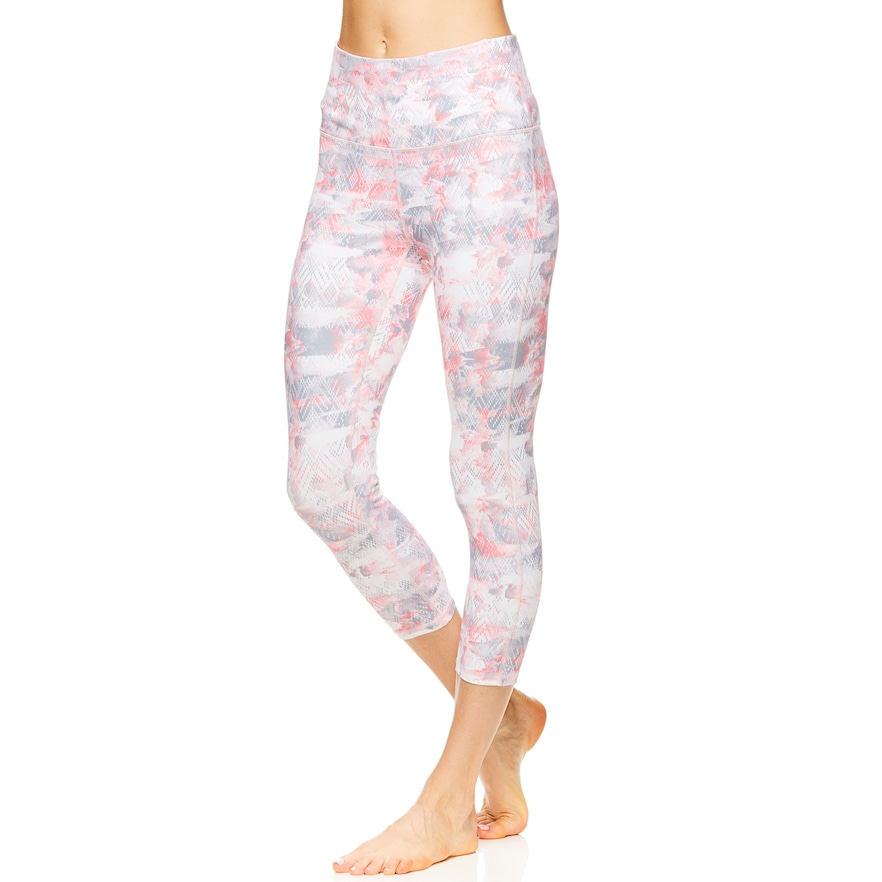 40fb460afe Women's Gaiam Om High-Waisted Capri Leggings, Size: Medium, Grey in ...