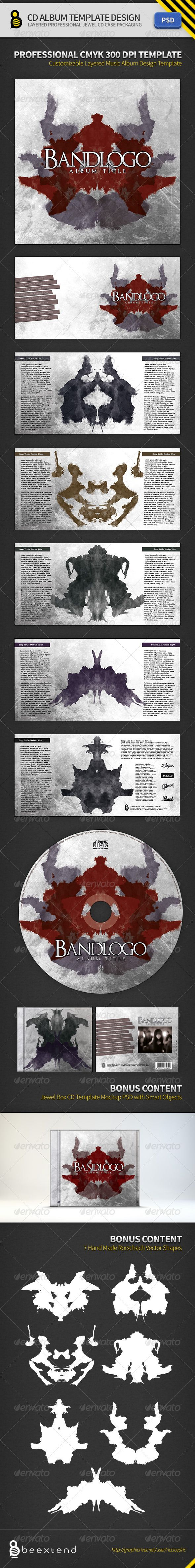 Cd Album Template Design Ii Graphicriver DonT Forget To Rate My