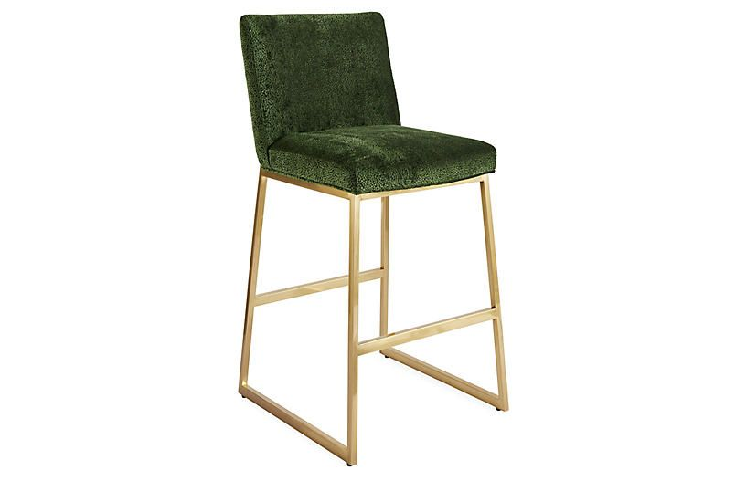 Hollas Barstool Emerald Brass Bar Stools Bar Lounge Design