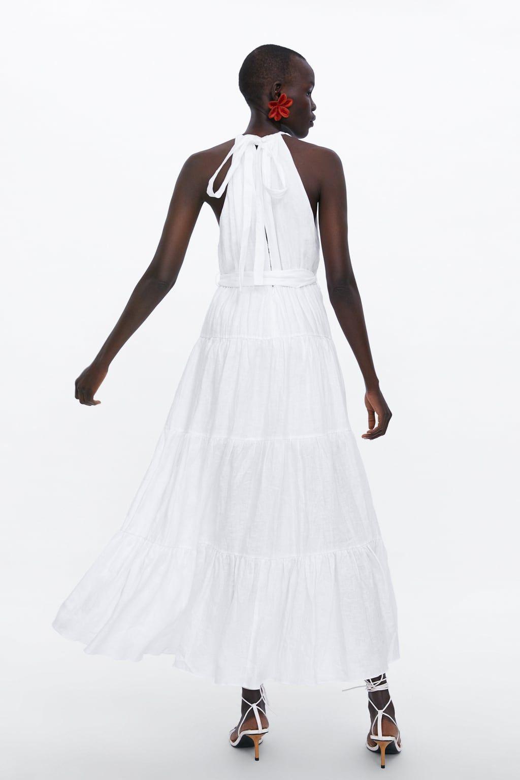Long Linen Dress New In Woman Zara United States Long White Maxi Dress Long Linen Dress Beach Maxi Dress [ 1536 x 1024 Pixel ]