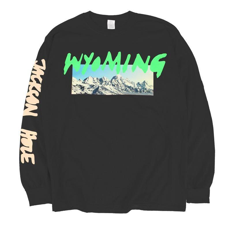 Kanye West Ye Wyoming Long Sleeve T Shirt Listening Party In 2020 Long Sleeve Tshirt Kanye West Long Sleeve