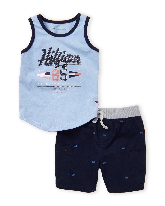 faaf6ffb Tommy Hilfiger (Infant Boys) Two-Piece Logo Tank & Twill Shorts Set ...