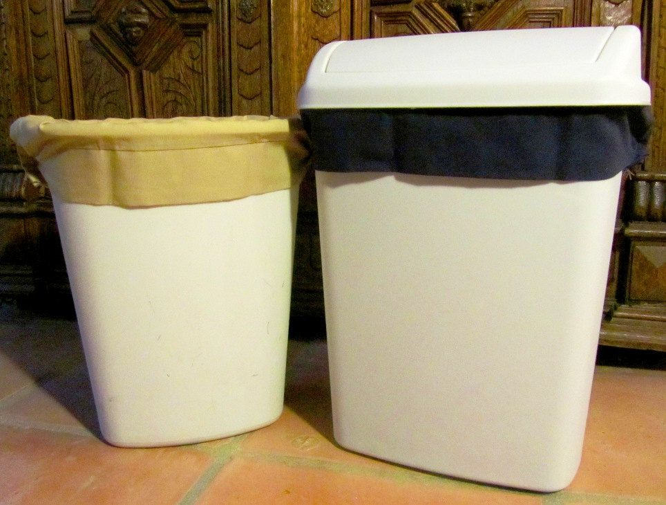 Two Reusable Bathroom Size Trash Can
