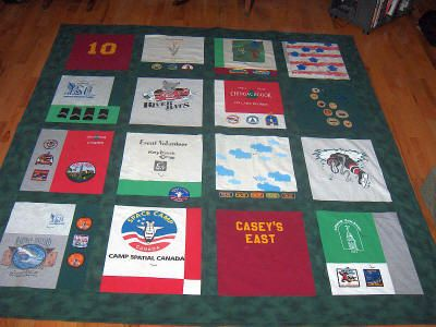 I've been saving my kids' tshirts and I want to give them one of ... : pictures of tshirt quilts - Adamdwight.com