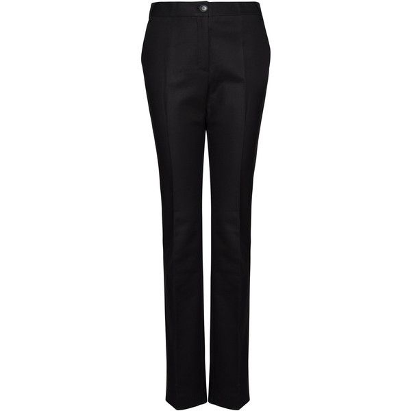 f34c2bc5e MANGO Suit trousers ($30) ❤ liked on Polyvore featuring pants, trousers,  bottoms, mango, black, slacks pants, suit trousers, dress trousers, ...