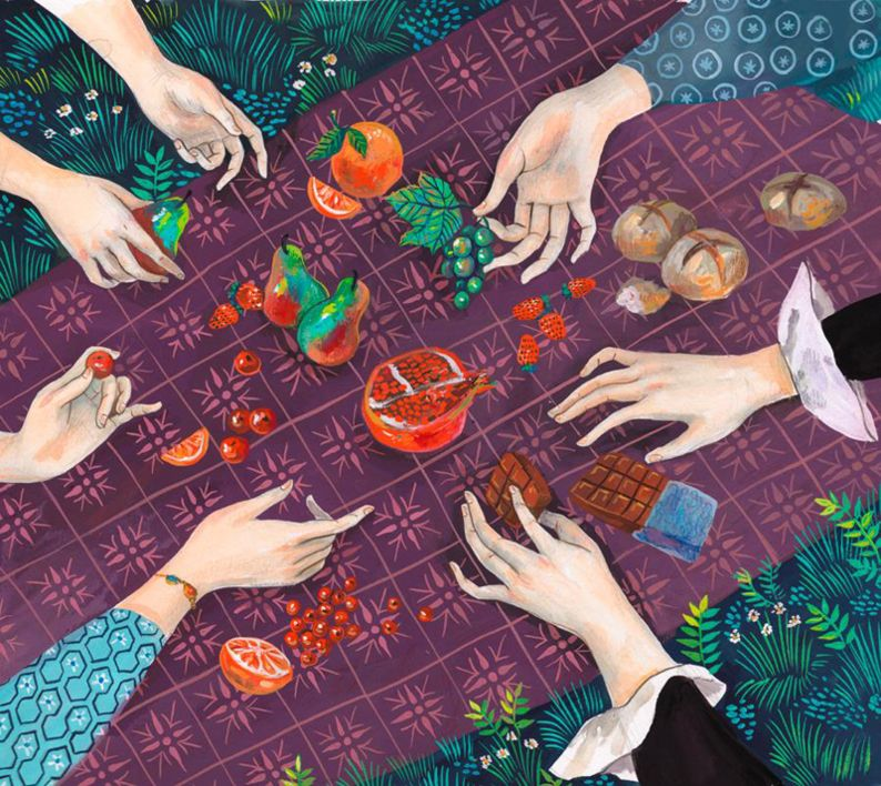 Picnic en Combray | Pintura de Helena Perez Garcia | Flecha
