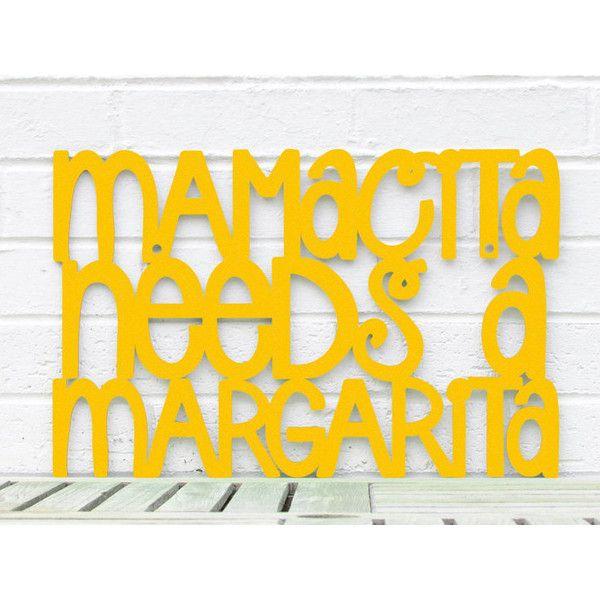 Funny Mothers Day Sign, Mamacita Needs A Margarita, Margarita Wood ...