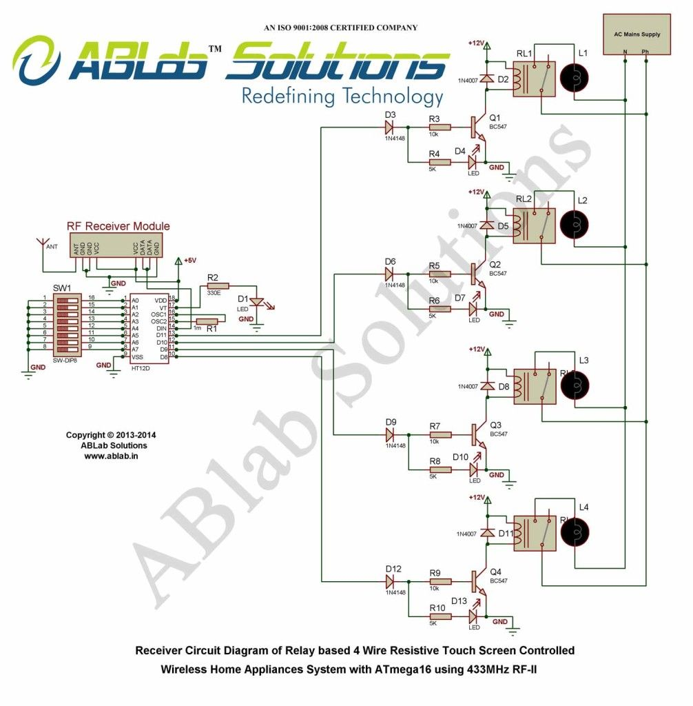 touch screen controlled wireless home appliances system with avr atmega16 microcontroller using 433mhz rf free download code circuit diagram  [ 1006 x 1024 Pixel ]