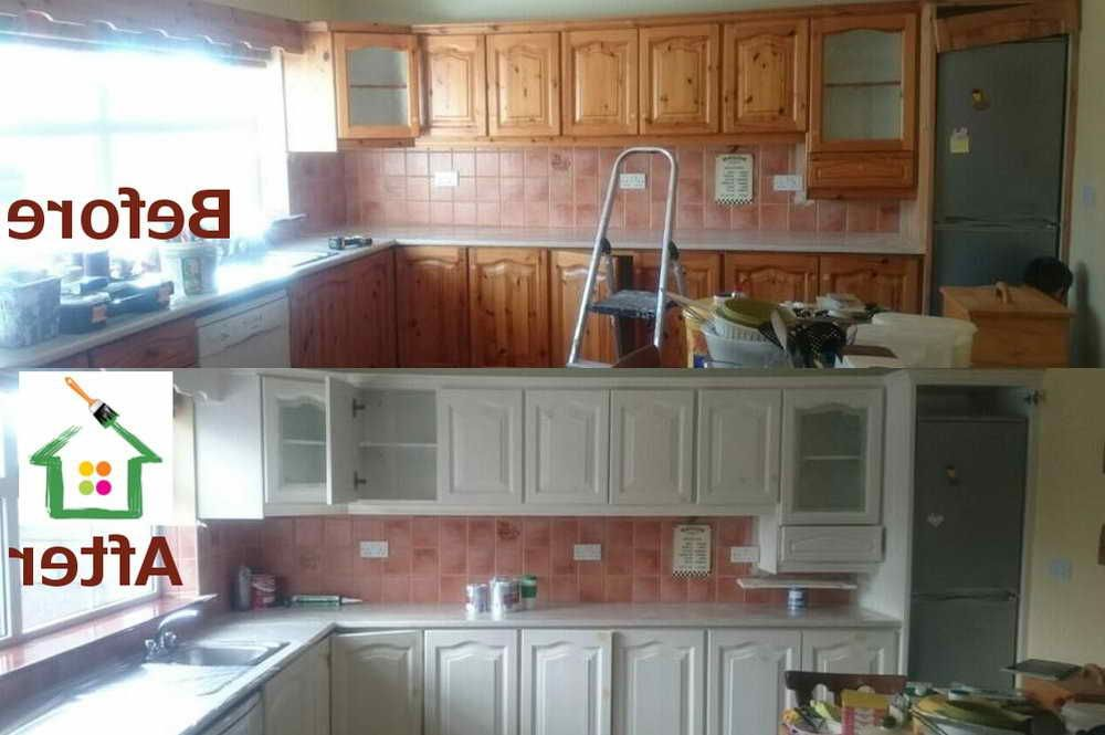 Spray Paint Kitchen Cabinets Cost   Repainting kitchen ...