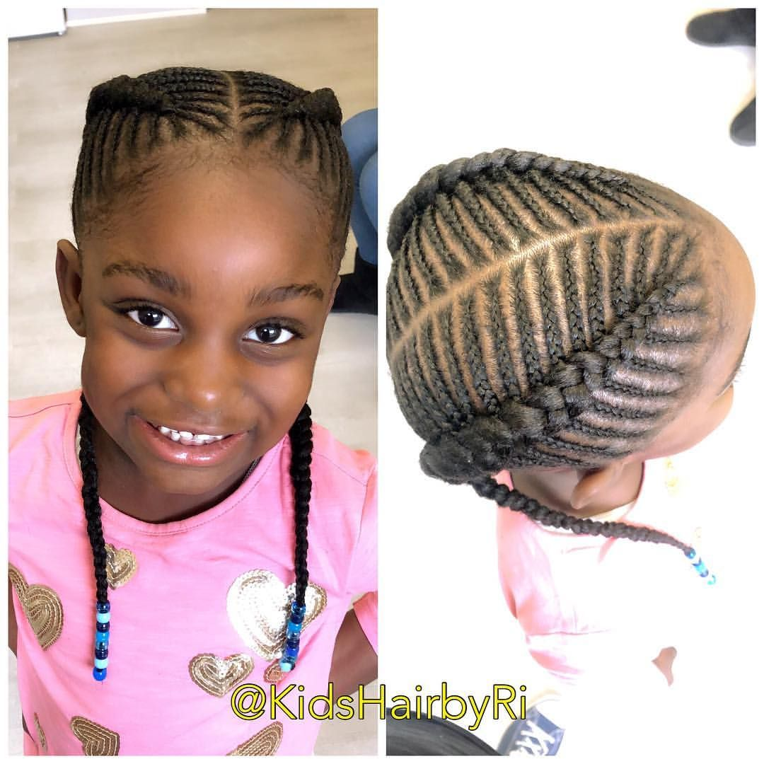 Classic Two fishbone braids ✨   Kids hairstyles, Kid braid styles ...