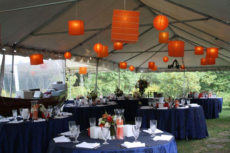 Orange paper lanterns over blue tables image courtesy of doc orange paper lanterns over blue tables image courtesy of doc waldrop at junglespirit Choice Image