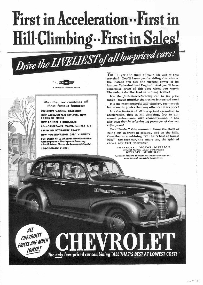Directory Index Chevrolet 1939 Car Ads Ad Car Automobile Advertising