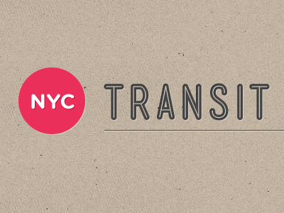 NYC Transit logo by Jan Cantor