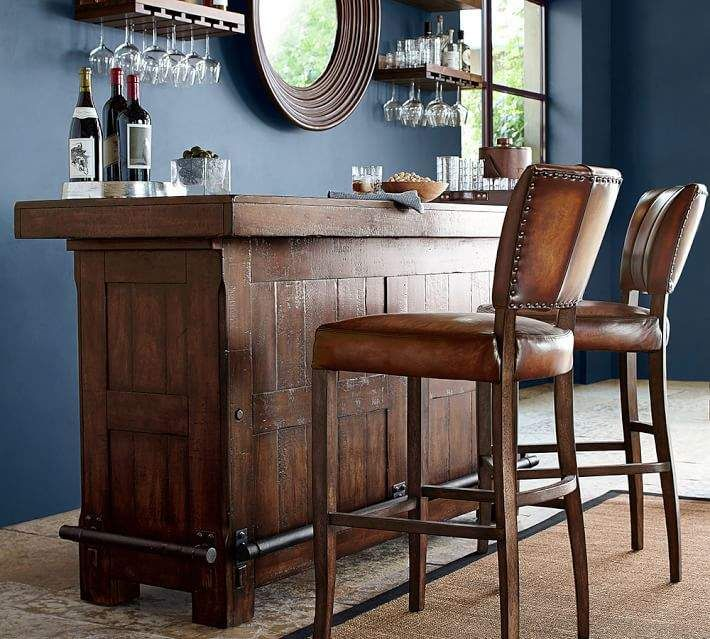 Rustic Ultimate Bar  Large is part of Large home Bar - Make your home the destination for holiday parties with this beautifully outfitted bar  Solidly crafted with all the details professional bartenders require, it helps you keep drinks and wine flowing with style and ease