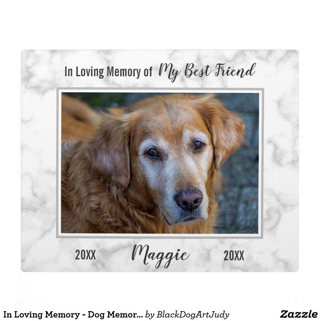In Loving Memory Dog Memorial Pet Loss Sympathy Plaque Zazzle Com Dog Memorial Pet Memorial Plaque Pet Loss