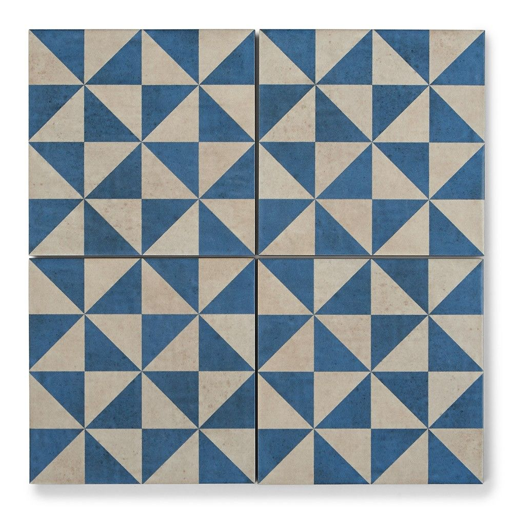 Medina Blue Triangles | Moroccan Tiles | Porcelain Superstore ...