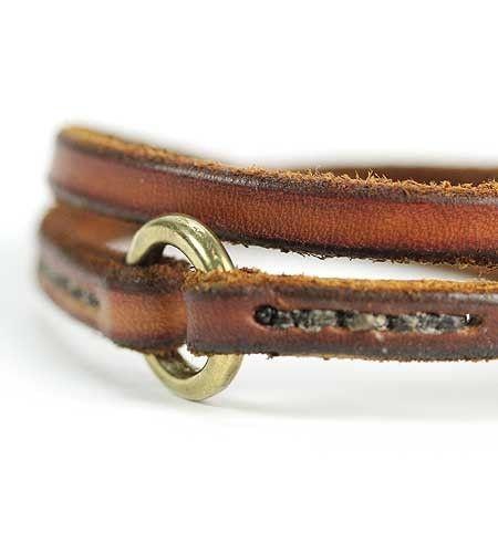 Leather Bracelet - Double - Brook Farm General Store