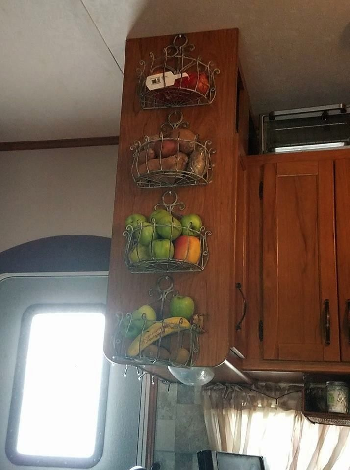 fruit vegetables  produce in the kitchen of a camper motorhome travel Store fru Store fruit vegetables  produce in the kitchen of a camper motorhome travel  Store fruit v...