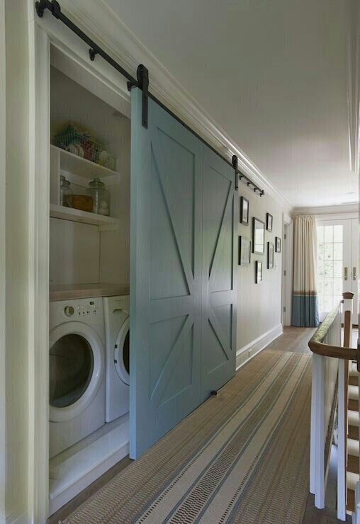 Instead of a whole new room for your washing machine