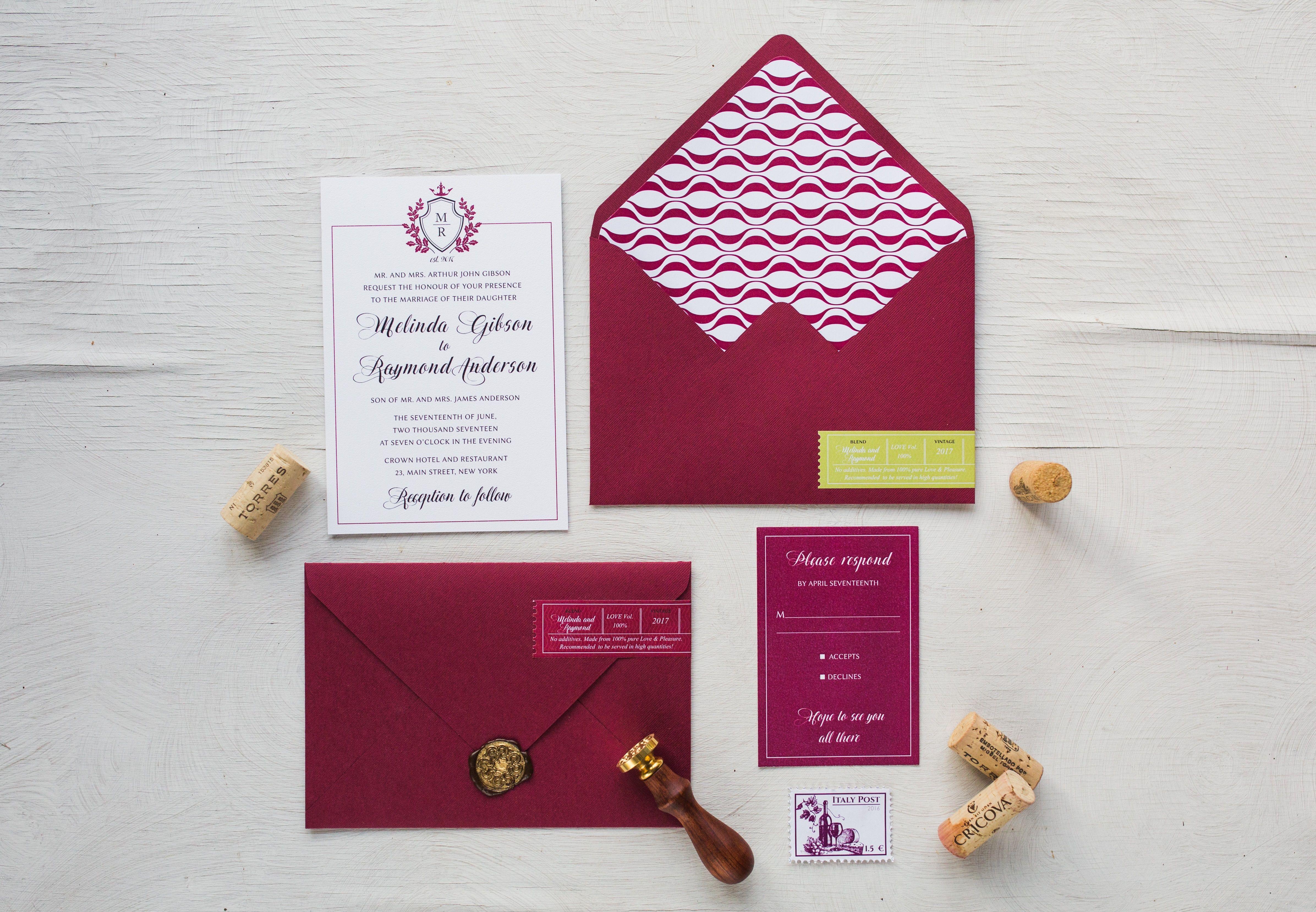 Copy Vineyard Wedding Invitations | Lenq.me