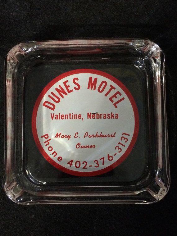 vintage dunes motel in valentine nebraska ashtray by 2barnpickers - Motels In Valentine Nebraska